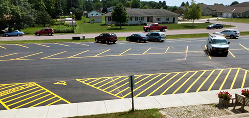 parking lot paved and painted
